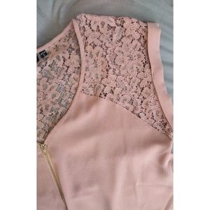 TEMPTED blush blouse